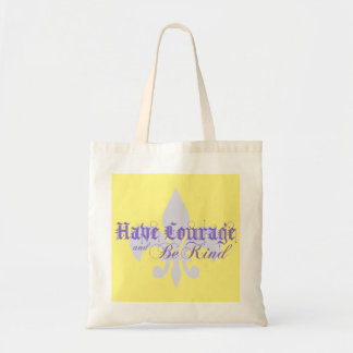 Have Courage and Be Kind - Fleur-de-Lis - Purple Tote Bag