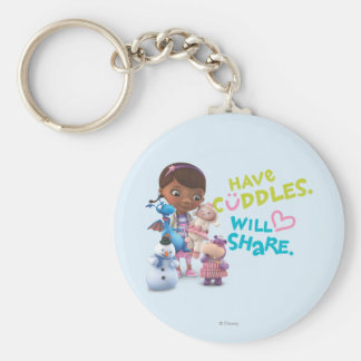 Have Cuddles Will Share Keychain