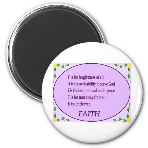 Have Faith 2 Inch Round Magnet