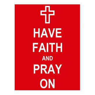 Have Faith And Pray On Postcard