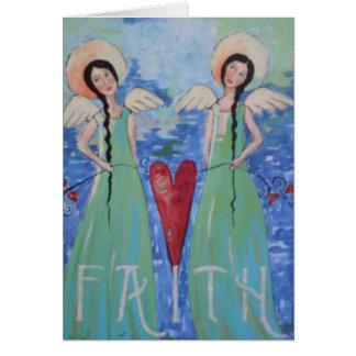 Have Faith Angels Card