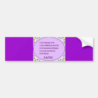 Have Faith Bumper Sticker