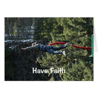 Have Faith - Bungee Jumper Card