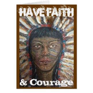 Have Faith & Courage Card