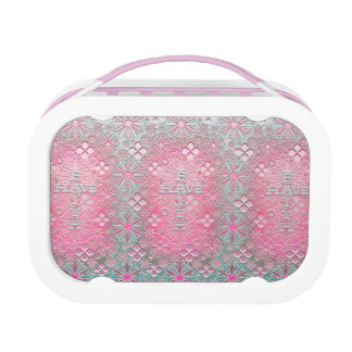 Have Faith Cross with silver flowers Yubo Lunch Box