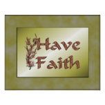 Have Faith Flowering Tree Inspirational Poster