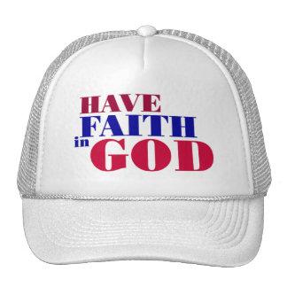 Have Faith in God Christian design Mesh Hats