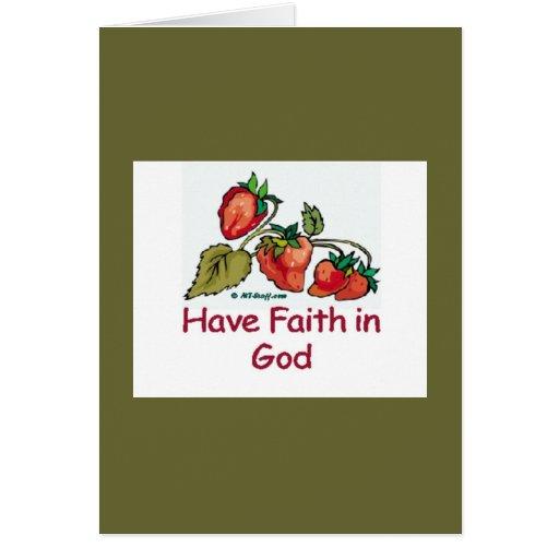 Have Faith in God Strawberry Card