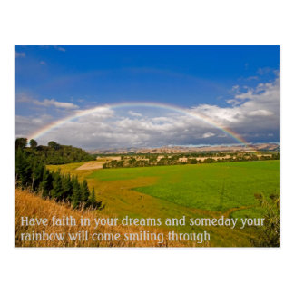 Have faith in your dreams postcard