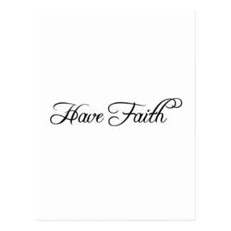 Have Faith Postcard