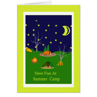 Have Fun At Summer Camp Card
