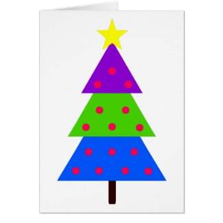 Have Fun Christmas Tree Personalized Card