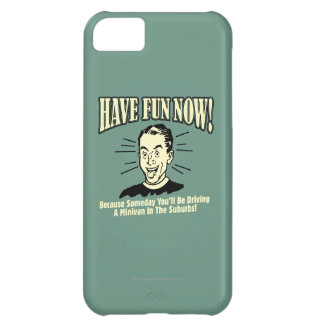 Have Fun Now: Driving Minivan Suburbs Cover For iPhone 5C