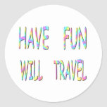 Have Fun Will Travel Stickers