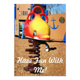 Have Fun With Me! 5x7 Paper Invitation Card