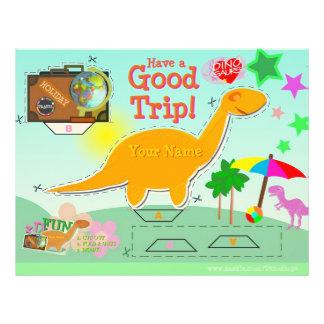 Have Good Trip Dinosaur Cut Paste Craft Worksheet Letterhead Design
