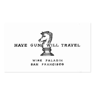Have Gun Will Travel Double-Sided Standard Business Cards (Pack Of 100)