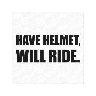 Have Helmet Will Ride Canvas Print