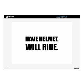 Have Helmet Will Ride Laptop Decals