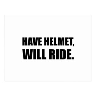 Have Helmet Will Ride Postcard