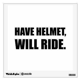 Have Helmet Will Ride Wall Sticker