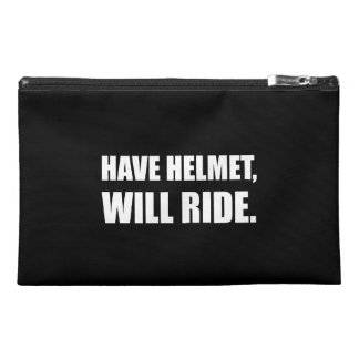 Have Helmet Will Ride White Travel Accessory Bags