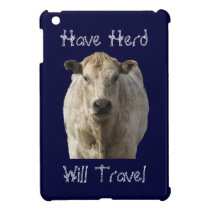 """Have Herd Will Travel"" Charolais Cattle Western Case For The iPad Mini"