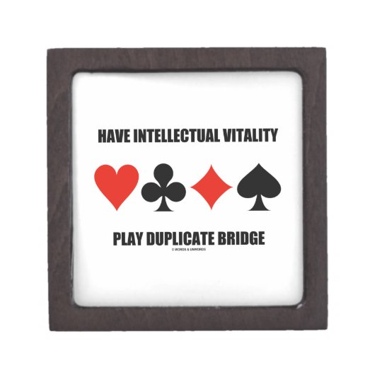 Have Intellectual Vitality Play Duplicate Bridge Jewelry Box