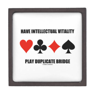Have Intellectual Vitality Play Duplicate Bridge Keepsake Box