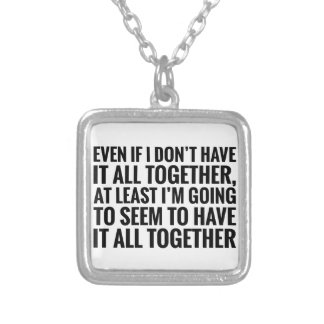Have It All Together Silver Plated Necklace