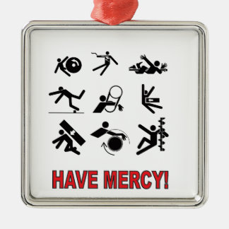 have mercy metal ornament