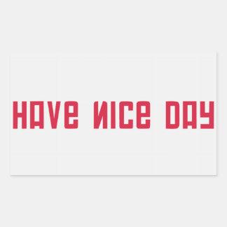 Have Nice Day Rectangular Sticker