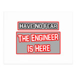 Have No Fear .. Engineer Is Here Postcards