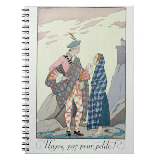 Have no fear, little one! 1922 (pochoir print) notebook
