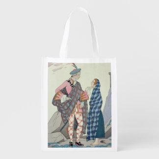 Have no fear, little one! 1922 (pochoir print) reusable grocery bag