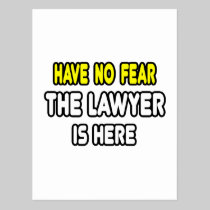 Have No Fear, The Lawyer Is Here Postcards