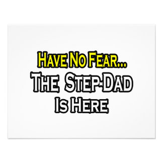 Have No Fear The Step-Dad Is Here Personalized Announcements
