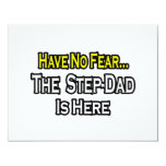 Have No Fear...The Step-Dad Is Here Personalized Announcements