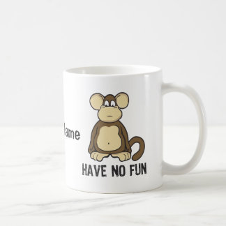 Have No Fun No Evil Monkeys - Personalize Coffee Mug