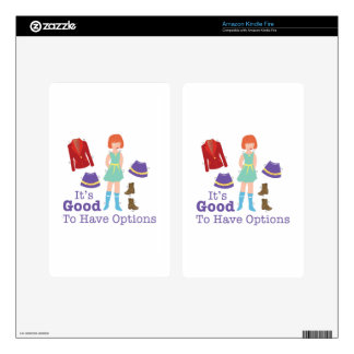 Have Options Kindle Fire Decal