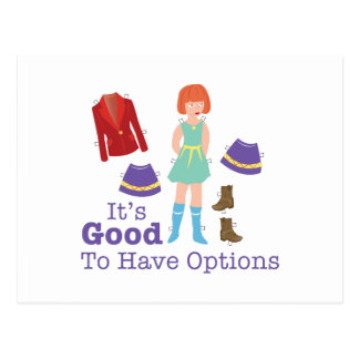 Have Options Postcard