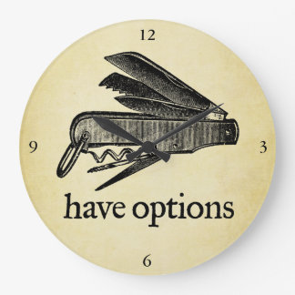 Have Options Wall Clock