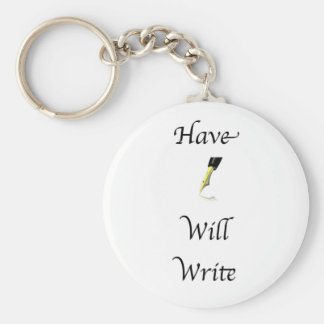 Have Pen Will Write Keychain