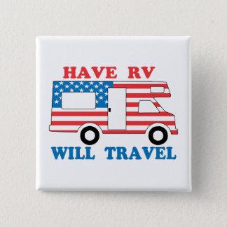 Have RV Will Travel America Button