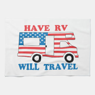 Have RV Will Travel America Kitchen Towel