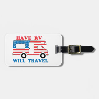 Have RV Will Travel America Travel Bag Tags