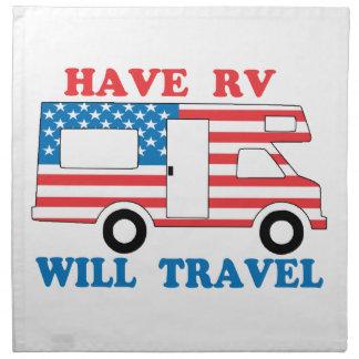Have RV Will Travel America Napkin