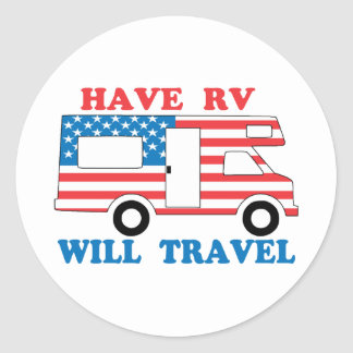 Have RV Will Travel America Sticker