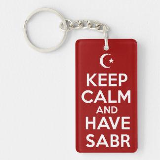 Have Sabr Single-Sided Rectangular Acrylic Keychain