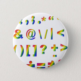 Have some punctuation pinback button